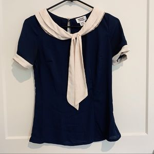 UNIQUE VINTAGE SAILOR BLOUSE